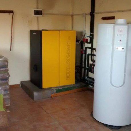 Caldera de biomasa con aerotermo - Ingeosolar