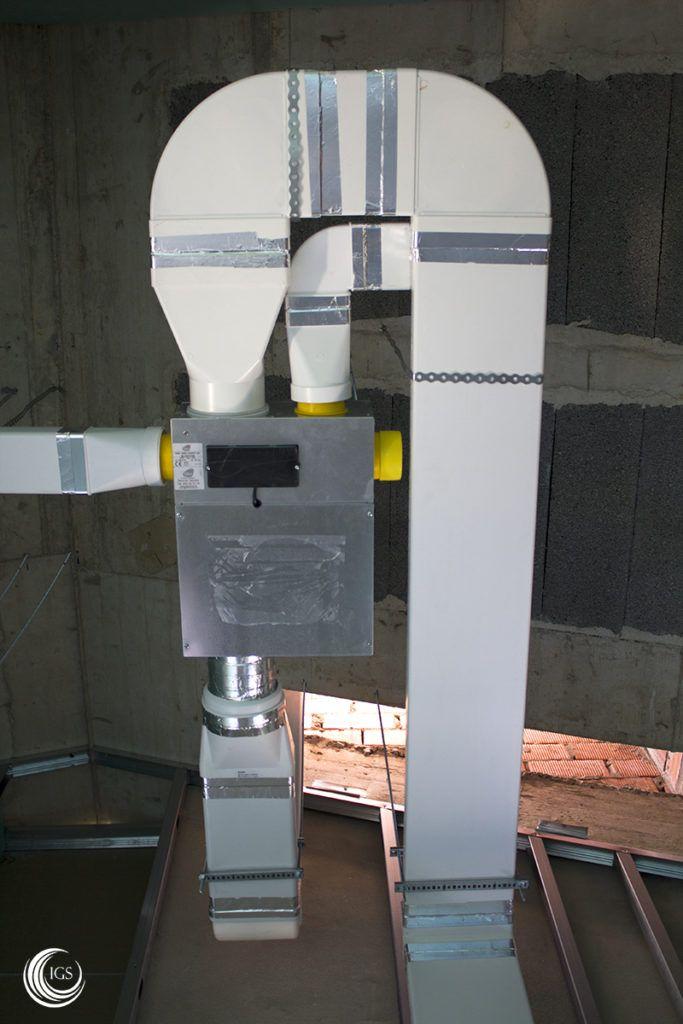 Sistema ventilación higrorregulable