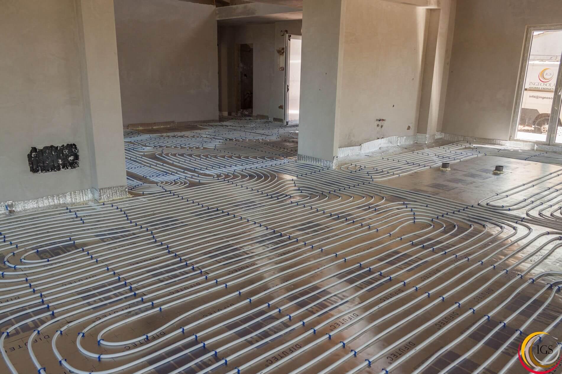 Suelo radiante finalizada nueva instalaci n de suelo radiante en cantabria ingeosolar ahorro - Bomba de frio para suelo radiante ...