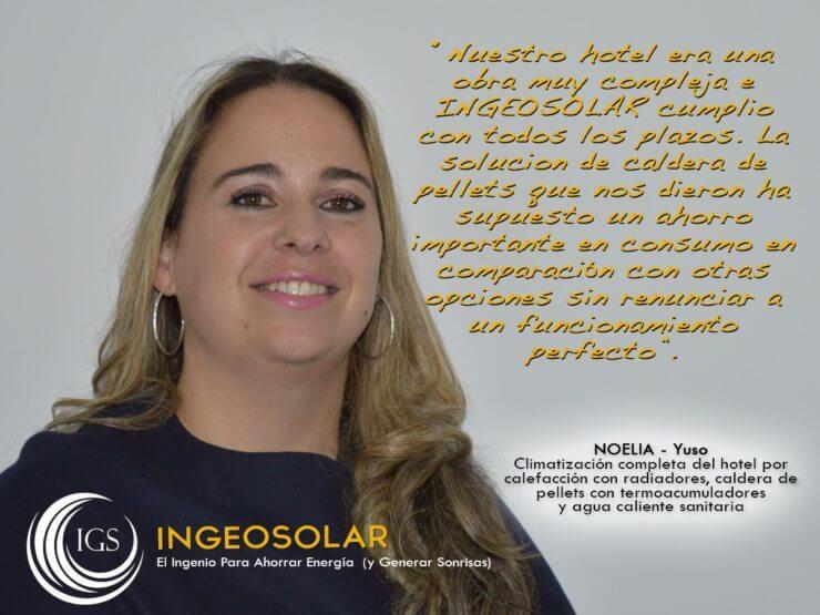 Testimonio Noelia Caldera de Pellets