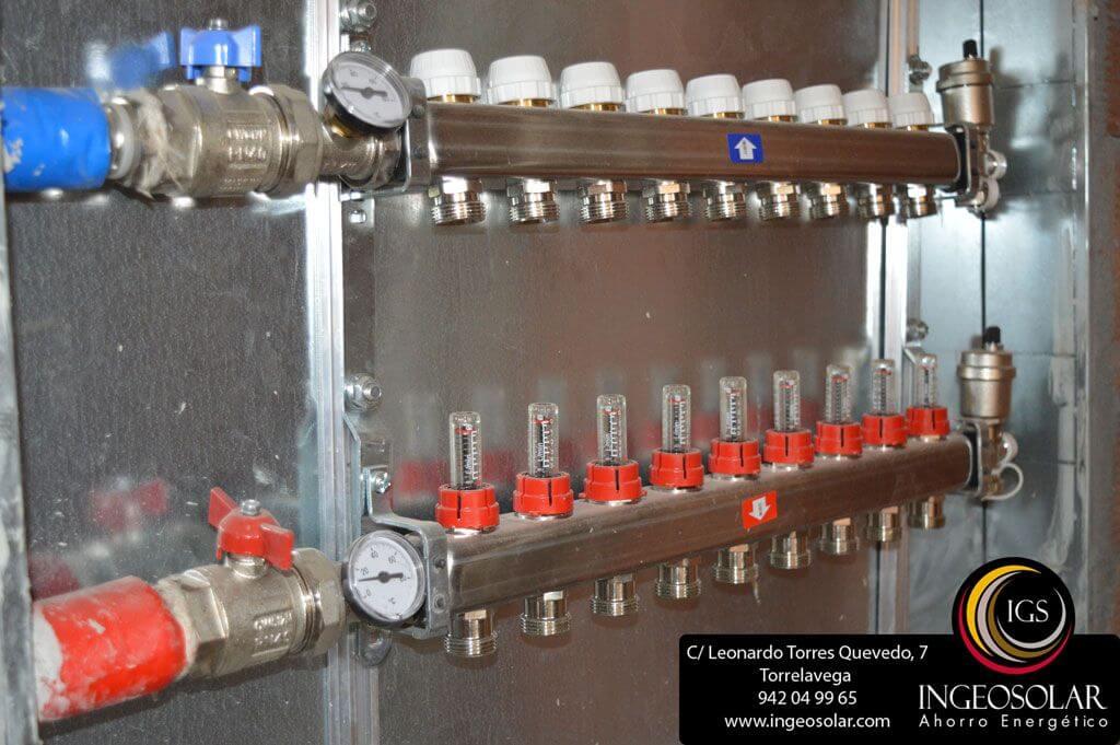 Colectores para calefacci n de suelo radiante ahorro energ tico ingeosolar - Bomba de frio para suelo radiante ...