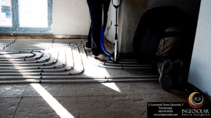 instalacion de suelo radiante - Ingeosolar