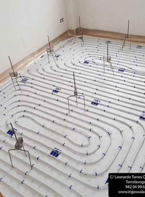 Instalación suelo radiante en Suesa (Cantabria) - Ingeosolar
