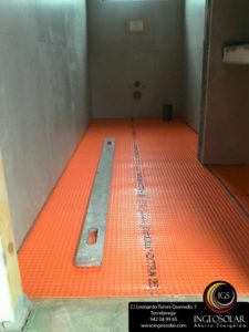 suelo radiante baja inercia con difusor