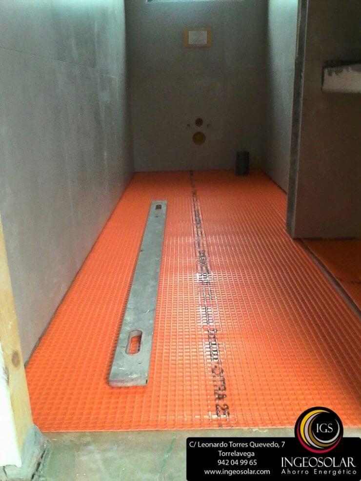 suelo radiante por baja inercia con difusor - Ingeosolar
