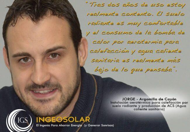 Opinión aerotermia Jorge