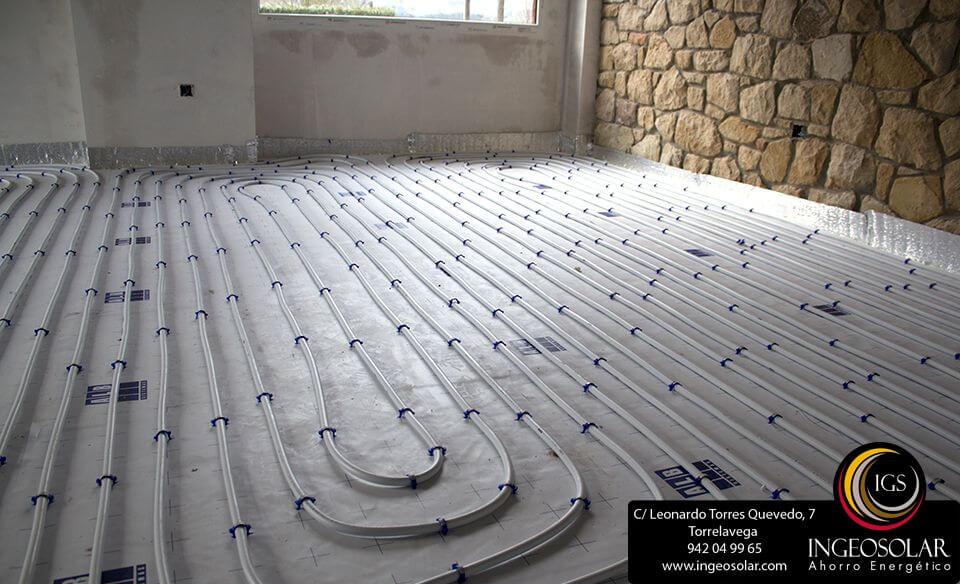 Suelo radiante en cantabria ingeosolar ahorro energ tico - Calefaccion por el suelo ...