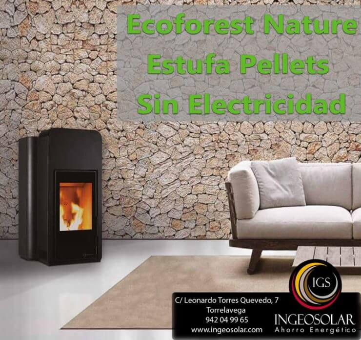 Ecoforest Nature Estufa Pellets Sin Electricidad