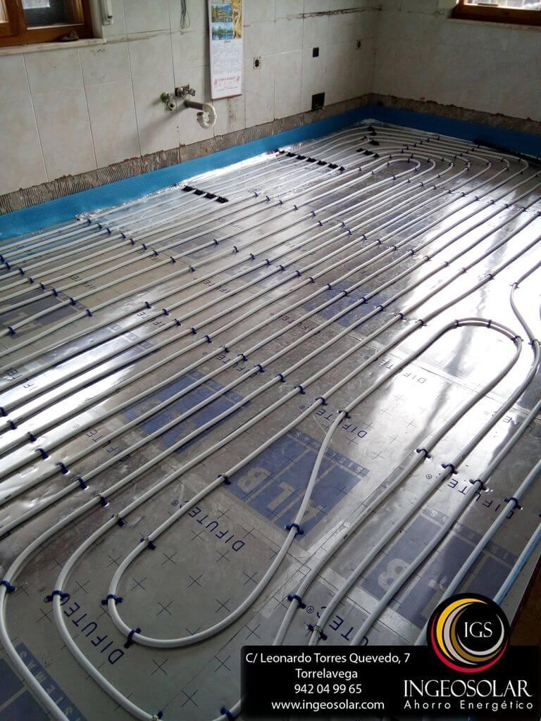 Calefacción por Suelo Radiante con Caldera de Pellets - Ingeosolar