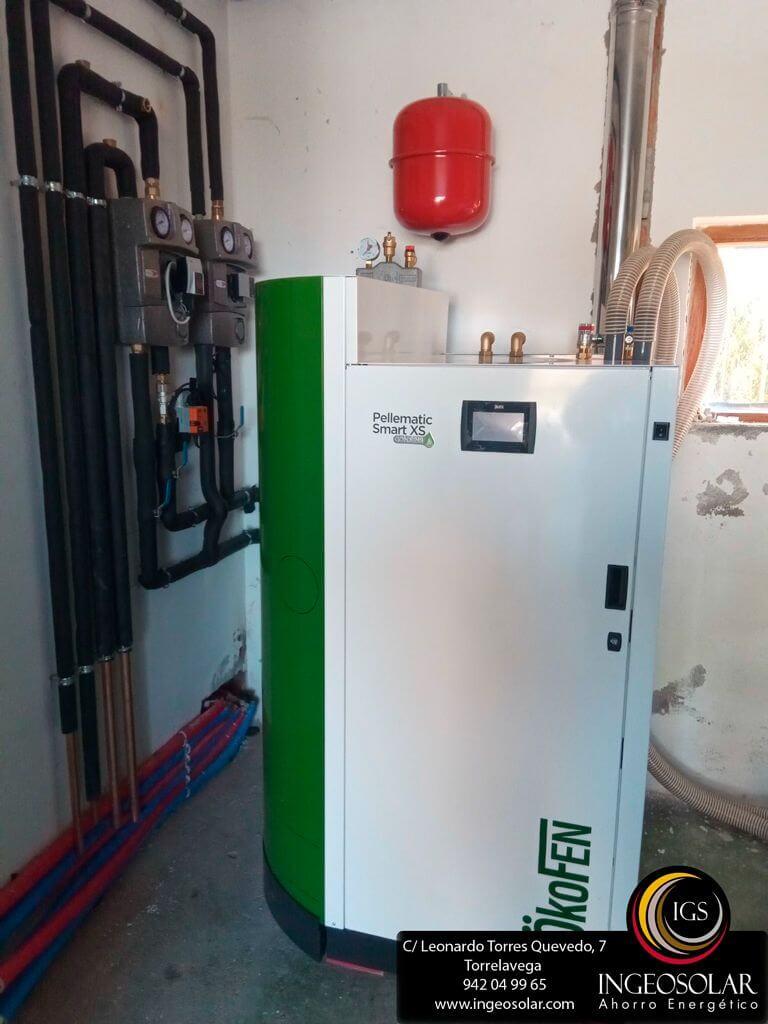Caldera de condensaci n de pellets con suelo radiante for Caldera de pellets para radiadores
