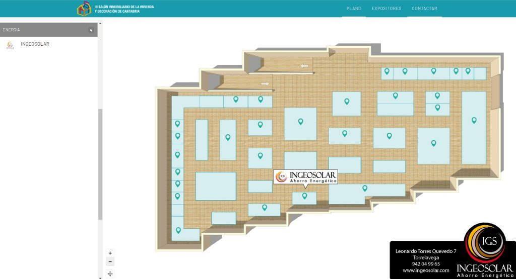 Plano Salon Inmobiliario de Vivienda y Decoración de Cantabria - Ingeosolar