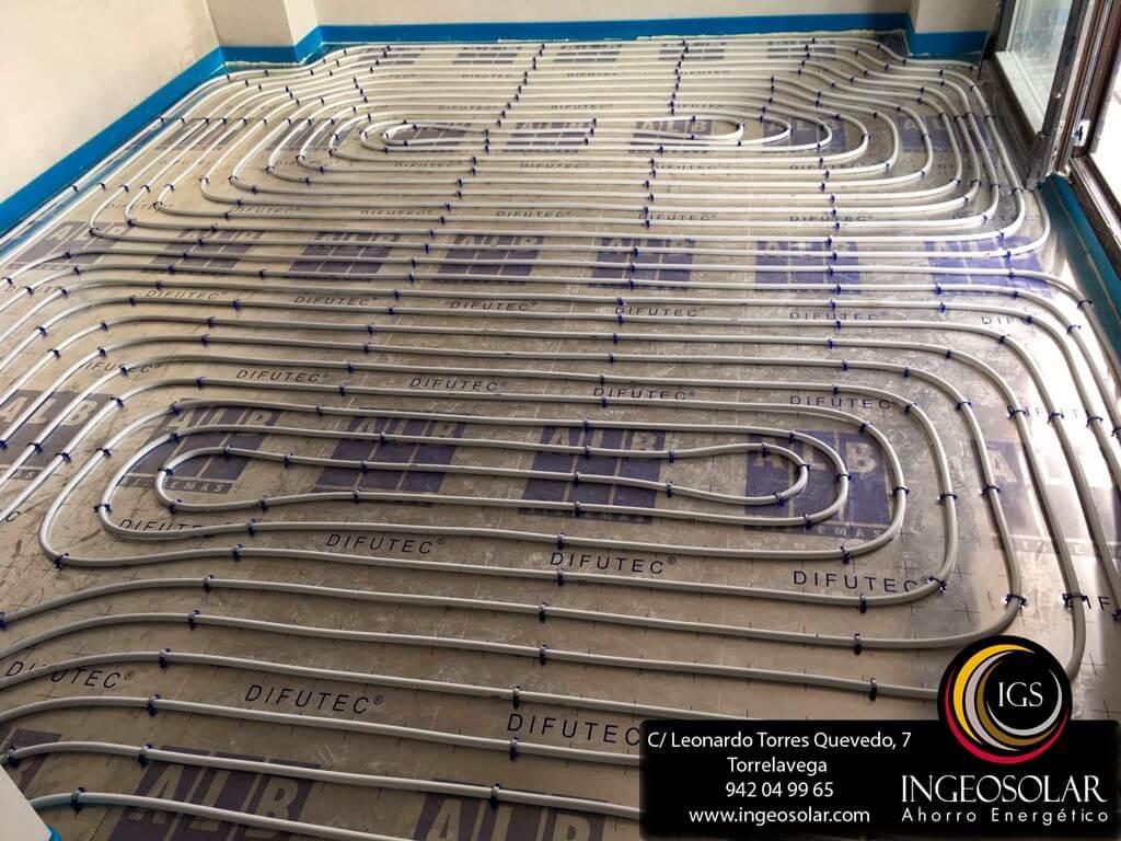 Instalación de calefacción por Suelo Radiante con Aerotermia ...