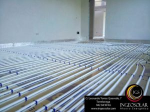 detalle suelo radiante ingeosolar