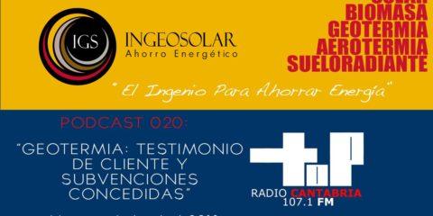 Podcast Geotermia Testimonio y Subvenciones