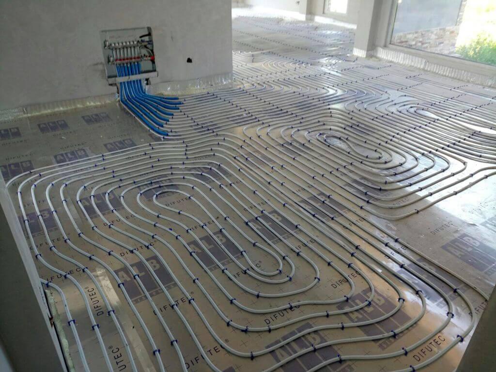 Aerotermia para calefacci n por suelo radiante en zurita - Suelos radiantes por agua ...