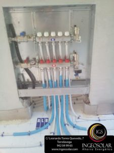 Colector calefacción suelo radiante - Ingeosolar