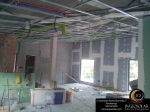Instalación tubos para ventilación de aire con recuperación de calor - Ingeosolar