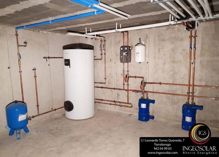 Sala técnica de energía solar térmica - Ingeosolar