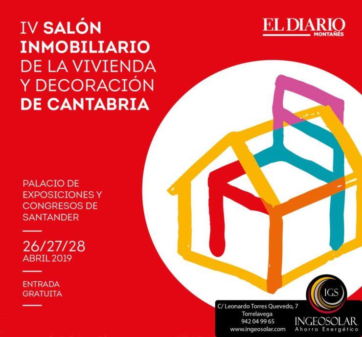 Cartel del Salon Inmobiliario en Santander 2019 con logotipo de Ingeosolar