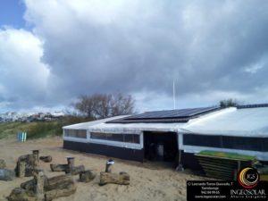 Chiringuito el Puntal Pedreña con instalación solar para generar luz hecha por Ingeosolar