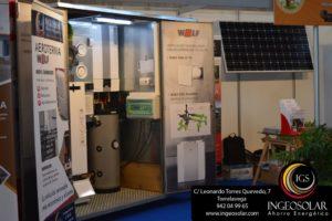 Stand de Energías Renovables en Salón Inmobiliario de la Vivienda y Decoración 2019 en Cantabria por Ingeosolar