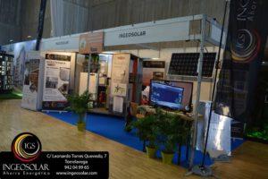 Stand de Energías Renovables en el Salón Inmobiliario de la Vivienda y Decoración 2019 en Cantabria por Ingeosolar