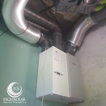 intercambiador de calor para ventilacion con recuperación de calor en Ingeosolar