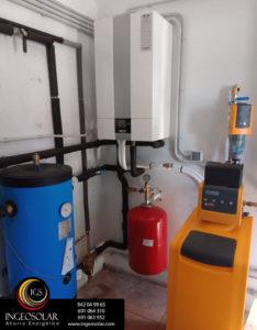 Aerotermia Wolf para sustitución de caldera de gasóleo y Descalcificador Ingeosolar