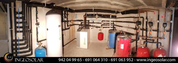Sala técnica de geotermia y suelo radiante en cantabria ingeosolar