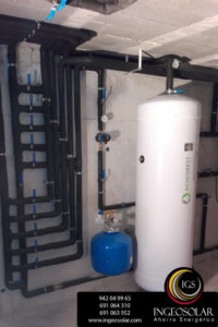 acumulador de agua de ecoforest para geotermia de ingeosolar