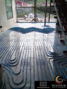 suelo radiante en vivienda unifamiliar ingeosolar