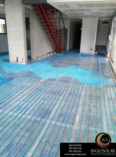 suelo radiante y geotermia ingeosolar