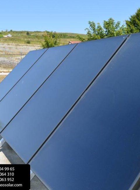 panales solares térmicos para producción de agua caliente sanitaria por ingeosolar