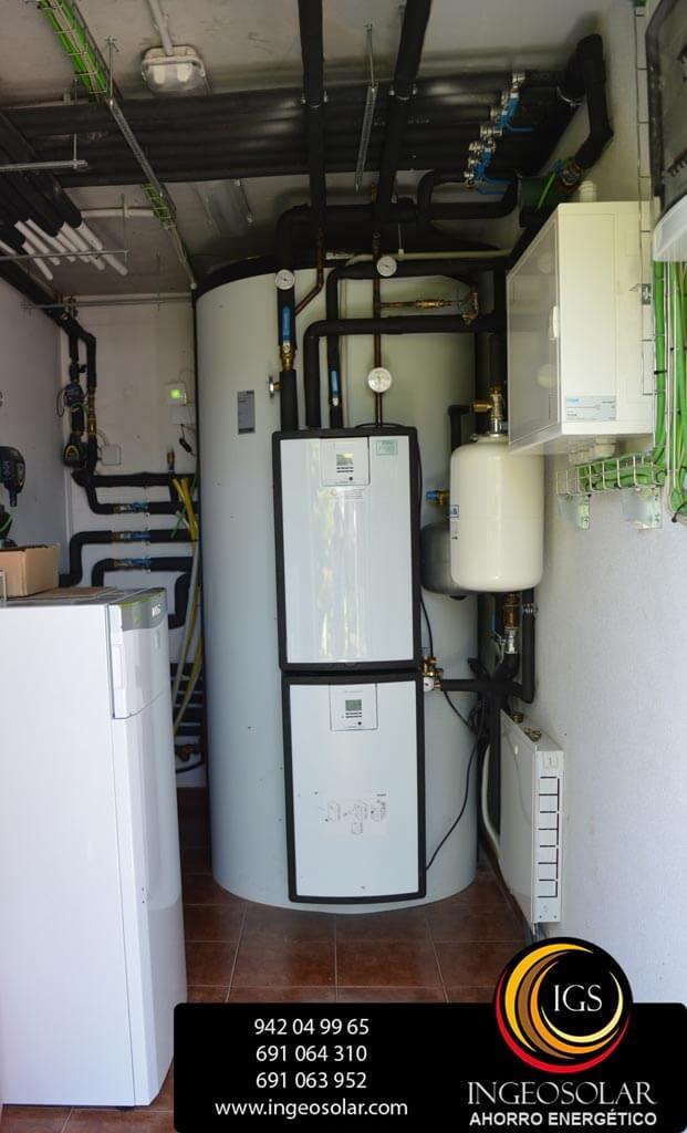 sala técnica de energía solar térmica y geotermica por ingeosolar