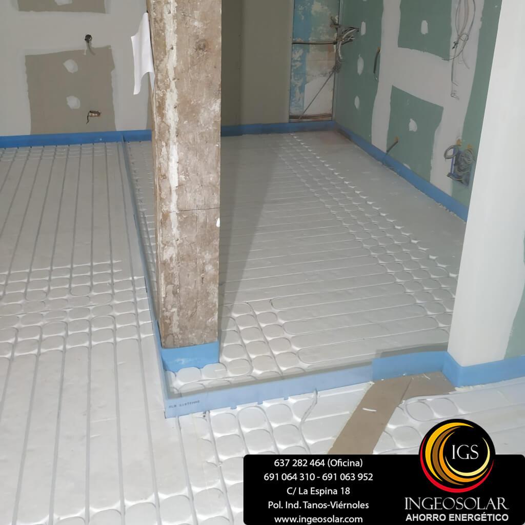 Paneles asilantes suelo radiante seco y tubo multicapa ingeosolar