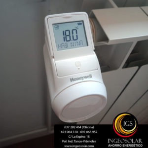 válvula termostática digital inalámbrica honeywell ingeosolar
