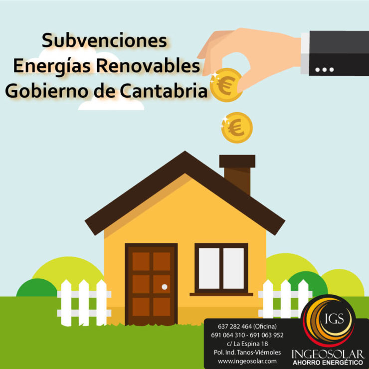 Subvención de Energías Renovables 2020 en Cantabria