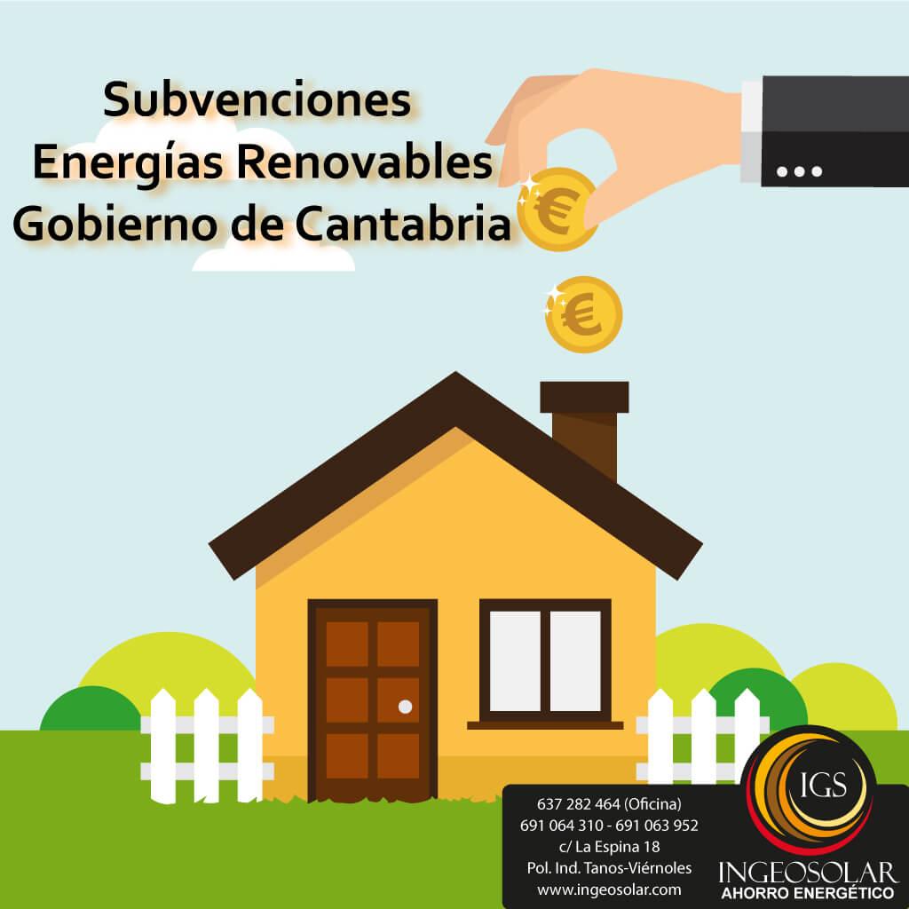 Subvención de Energías Renovables en Cantabria