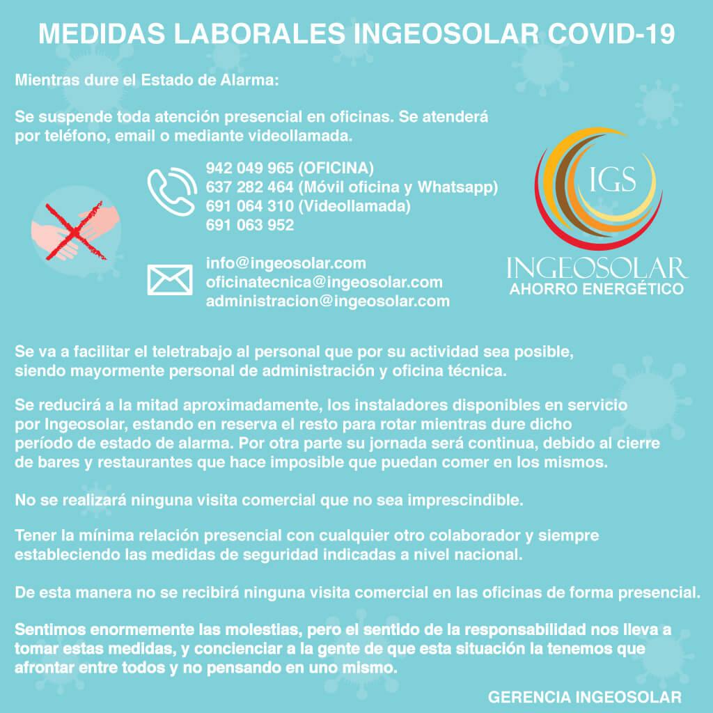 coronavirus ingeosolar
