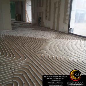 suelo radiante en obra nueva ingeosolar