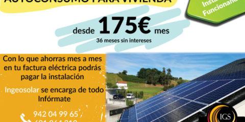Financiacion Fotovoltacia Sin Intereses desde 175€ mes