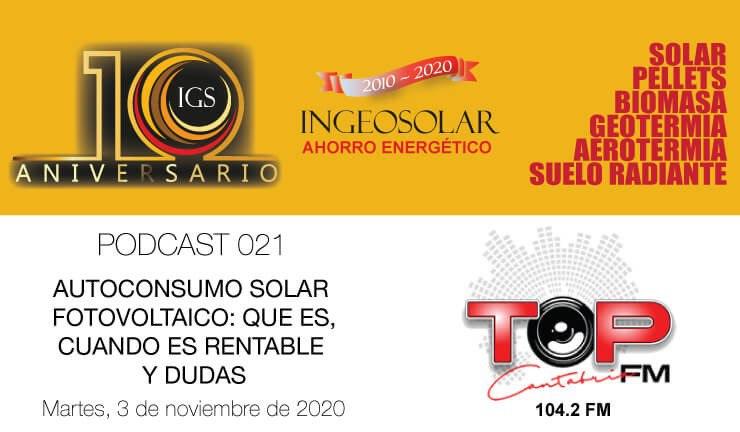 Podcast 021 Autoconsumo Solar Fotovoltaico
