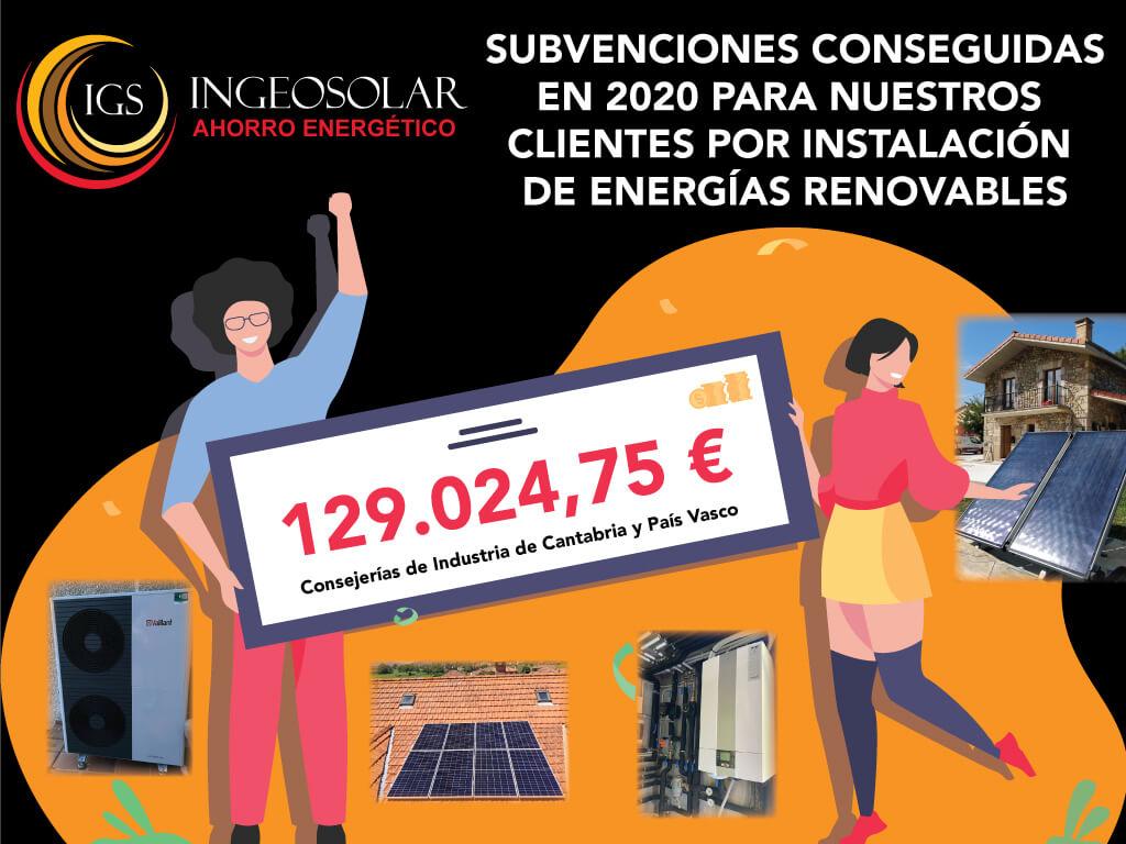 Subvenciones energias renovables 2020 ingeosolar
